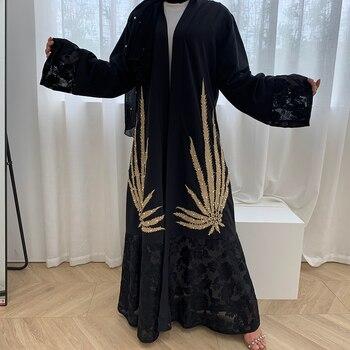 Vestido de Mubarek Abaya Dubai, Kimono turco, Túnica femenina, vestido hiyab musulmán de moda, ropa islámica, vestidos africanos para mujer, caftán