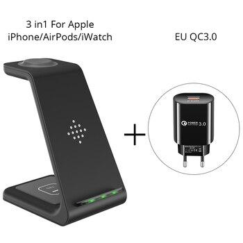 Ασύρματος φορτιστής bonola 3 σε 1 για iphone