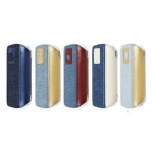 Iqos 3.0 Duo Beschermende Gevallen Denim Druk Lederen Splice Witte Rand Covers Voor Ecig Accessoires