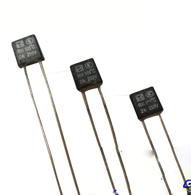 100PCS/Lot Black Square RH Thermal <font><b>Fuse</b></font> Temperature Switches <font><b>2A</b></font>/<font><b>250V</b></font> 92/95/105/110/115/120/125/<font><b>130</b></font>/135/140/150 Degree image