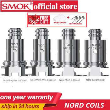 Oryginalny 5 sztuk SMOK Nord cewka zastępcza z regularnym 1 4ohm cewki i 0 6ohm cewka z siatką dla SMOK Nord zestaw elektroniczny papieros tanie i dobre opinie SMOK nord coils