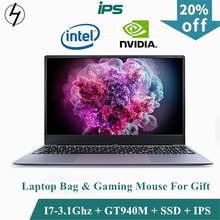 LHMZNIY Gaming laptop 15.6inch Metal Body Intel i7 6500U 16GB RAM 2G Dedicated Video Card Windows 10 Notebook Game Office Work
