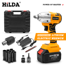 HILDA Electric Impact Wrench 21V Brushless Wrench Socket Hand Drill Installation Electric Screwdriver Power Tools