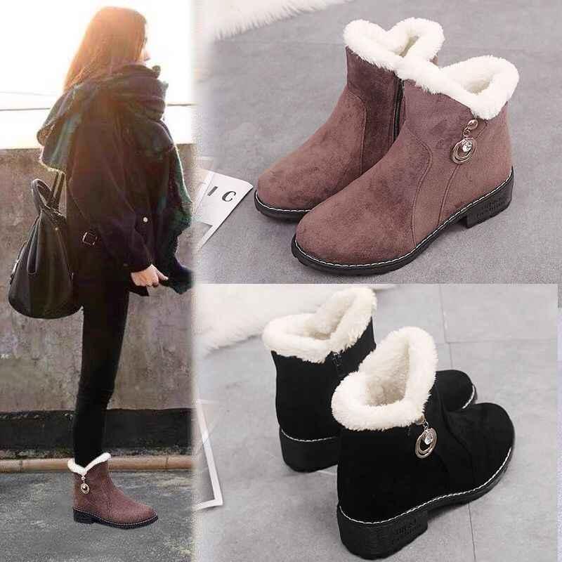 top shoes women plus velvet Ankle Boots