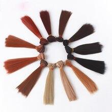 Nova chegada 15cm * 100cm e 25cm * 100cm em linha reta de alta temperatura fibra bjd sd perucas cabelo diy para bjddolls