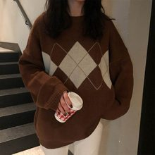 Swetry z dzianiny damskie swetry sweter Top Lingge zimowe ubrania damskie luźne swetry warstwa wierzchnia swobodny sweter Sueter De Mujer 2021