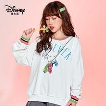 Original Disney Wonderful Fairy Sweater Women's Hooded Pullover Print Simple  sweatshirt  womens winter tops