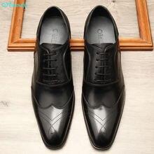 Мужские официальные туфли qyfcioufu из натуральной кожи оксфорды