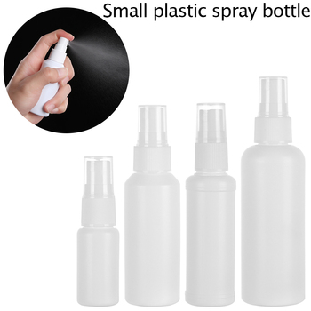 20/50/60/100ml Refillable Safe white Plastic Travel Bottles Atomizer For Empty Perfume Bottle Flask With Small Sprayer