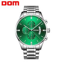 DOM New Fashion Mens Watches Top Brand Luxury Big Dial Military Quartz