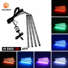 Car Led Decoration USB light Bar Flexible LED Interior Decorative Lamps APP Control Festival Neon Atmosphere Lights