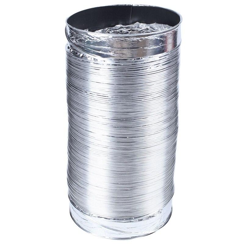 Новый 3 м длина 100 мм/4 дюйма система свежего воздуха Гибкая алюминиевая выхлопная труба вентиляционная труба шланг для ванной комнаты