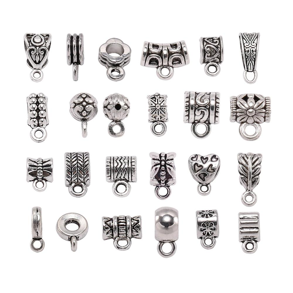 20pcs/lot Pendant Clasps Hook Clips Bails Connectors necklace pendants Bail Bead For DIY Jewelry Making Findings supplies(China)