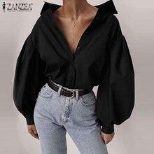 2020 ZANZEA Stylish Women's Puff Sleeve Blouse Summer