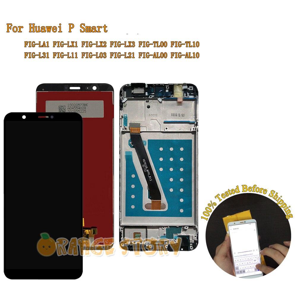 ЖК-дисплей для Huawei P smart FIG-LX1, ЖК-дисплей с сенсорным экраном для P Smart FIG LX1 LX3 L21 L22 Screen