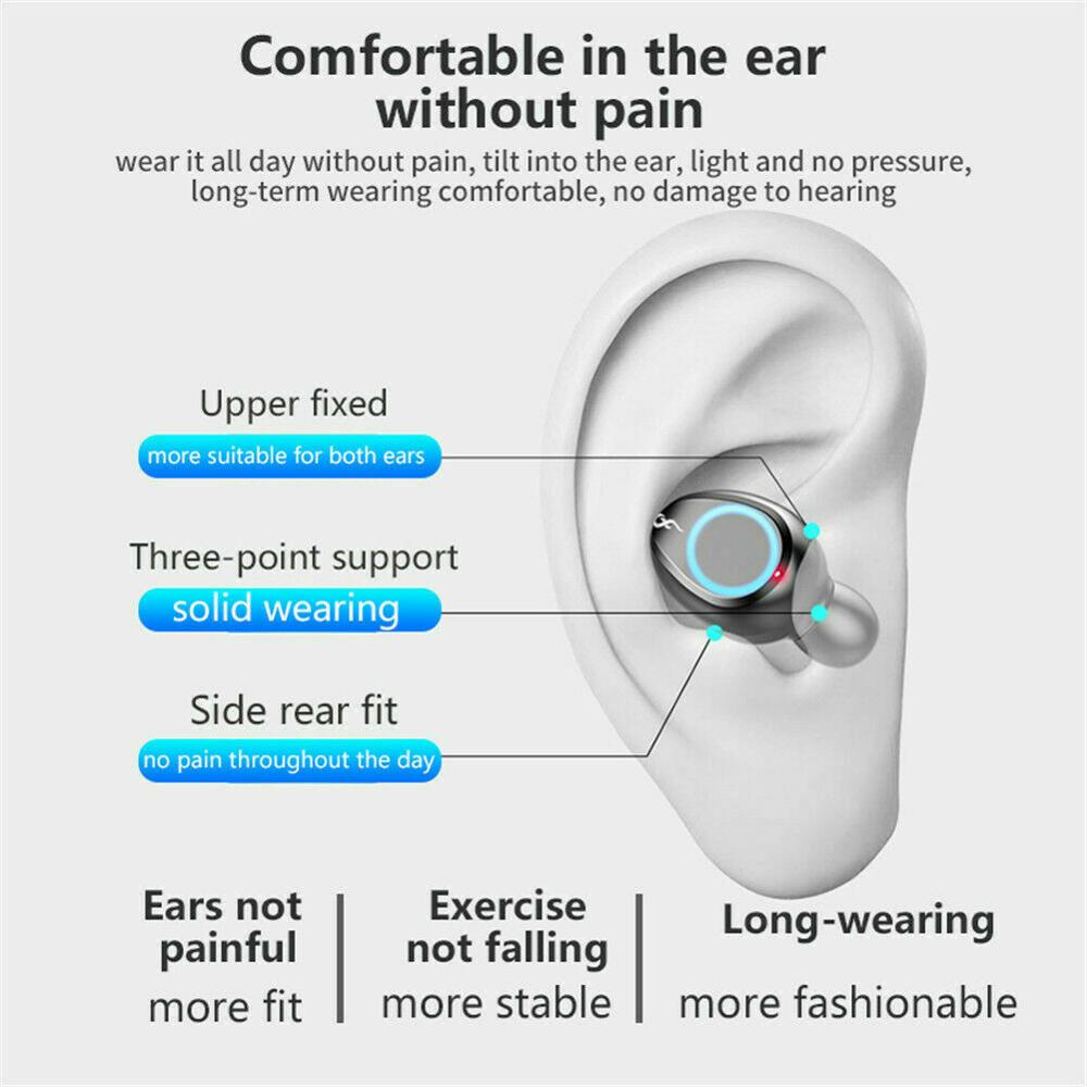 Wireless Bluetooth 5.0 Earphones Double Mini Earbuds In-Ear Headset with Microphone as Smart Phone Power BanK for Music Calling 5