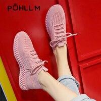 Women Sneaker Breathable Female Vulcanized Shoes Soft Walking Footwear Models Elastic Hollow Flying Women' Shoes Socks ShoesB34