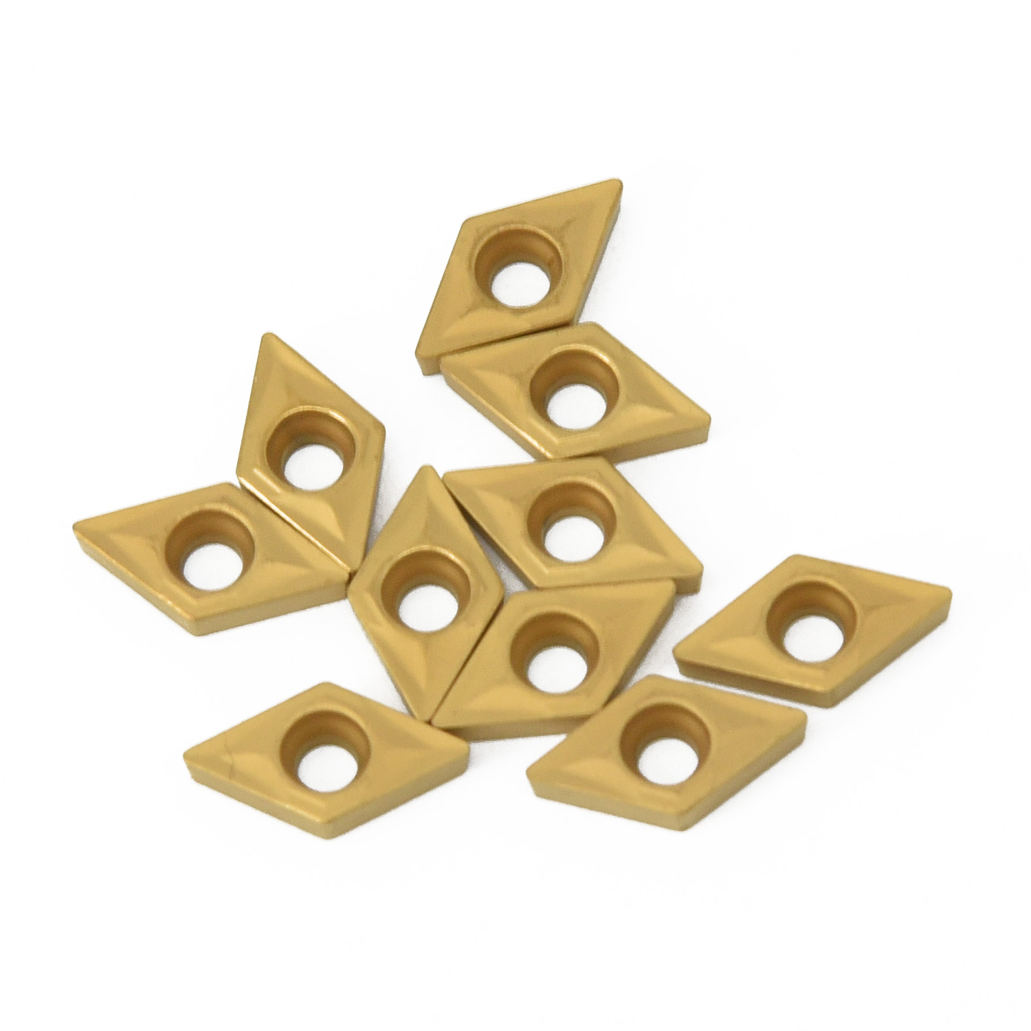 1 Box <font><b>DCMT070204</b></font> US735 DCMT21.51 Carbide Inserts For Lathe Turning Tool <font><b>10</b></font> Pack image
