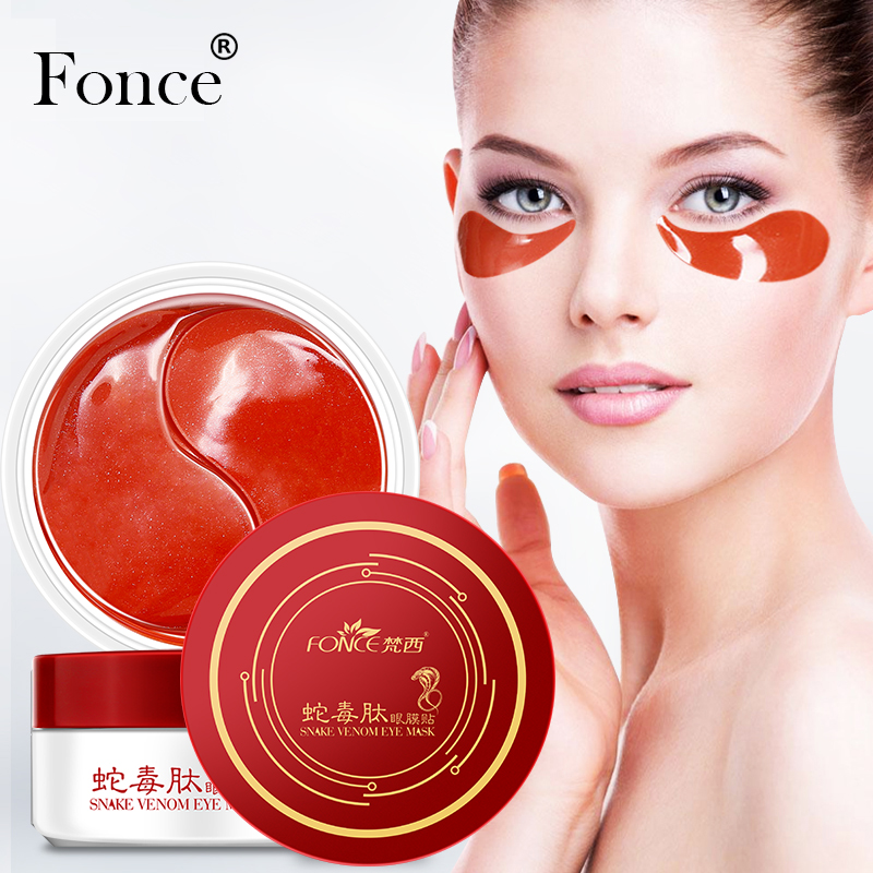 [Normal Delivery] Fonce Snake Venom Essence Eye Mask 60 Piece For Faded Dark Circles Eye Bags Firming Wrinkles Eye Patches