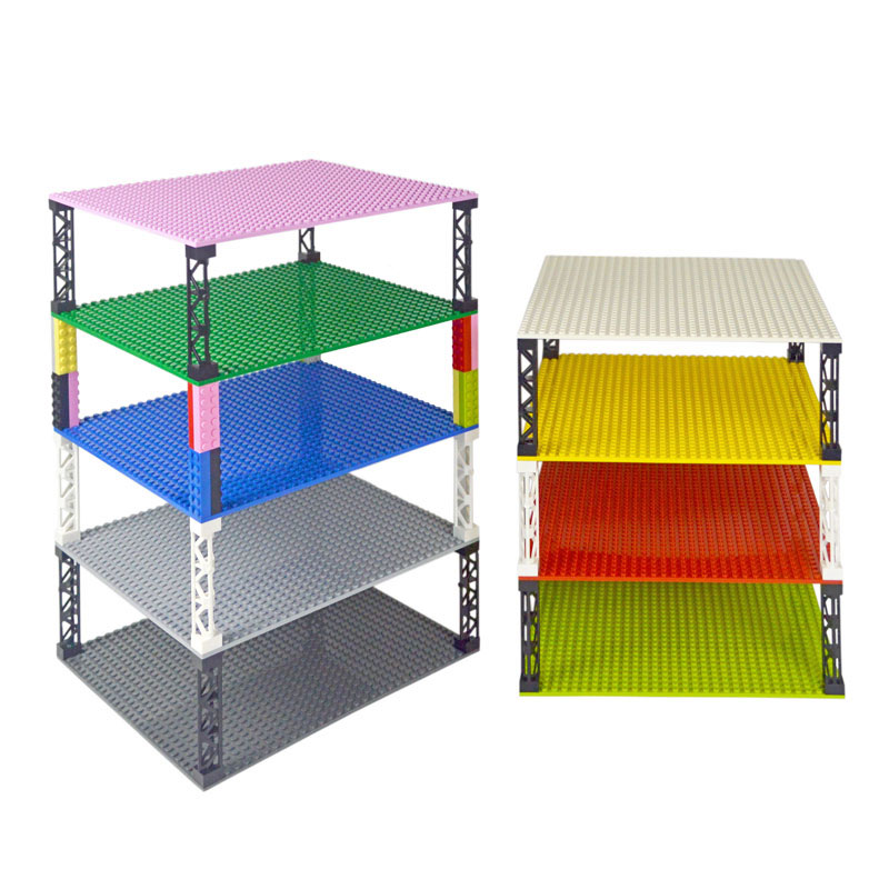 32*32 Dots Double-sided Baseplates Bricks DIY Colorful Pillars Building Blocks Base Plate Compatible Leduo Small Blocks