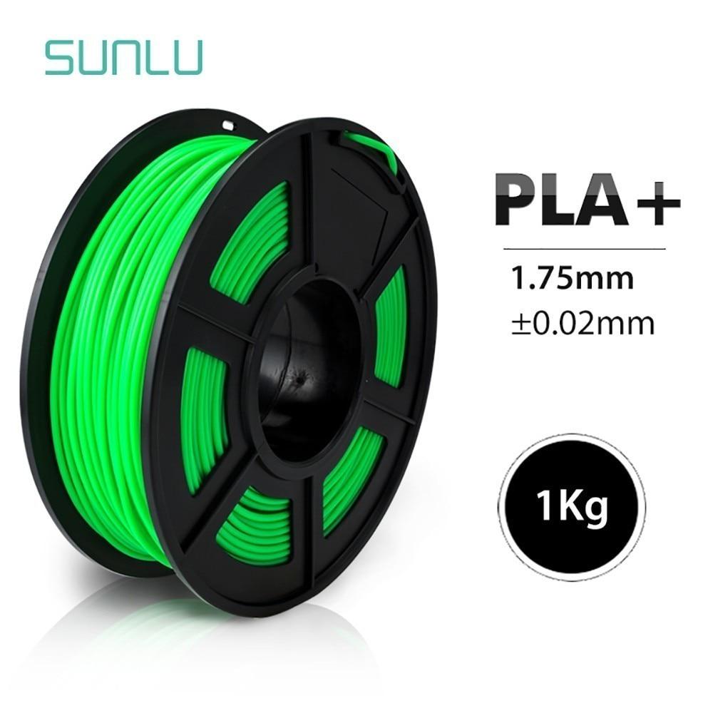 SUNLU PLA + 3D extrudeuse Filament 1.75mm 3D stylo d'impression Sublimation ébauches dimensionnelles Accury +-0.02mm faible rétrécissement Filament