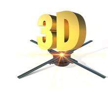 3d holográfico ventilador projetor publicidade luzes de exibição 3d holograma luzes de publicidade decorativo comercial luzes promocionais