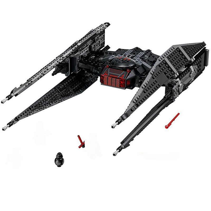 Lepinblock 10907 כוכב חלל Starwars מלחמת עניבת דגם לוחם בלה אבני בניין 4 דמויות 75179 צעצועים לילדים