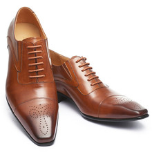 2020 Business Shoes Men Oxfords PU Leather Men Shoes Fashion Outdoor Lace Up High Quality Office Classic Wedding Zapatillas