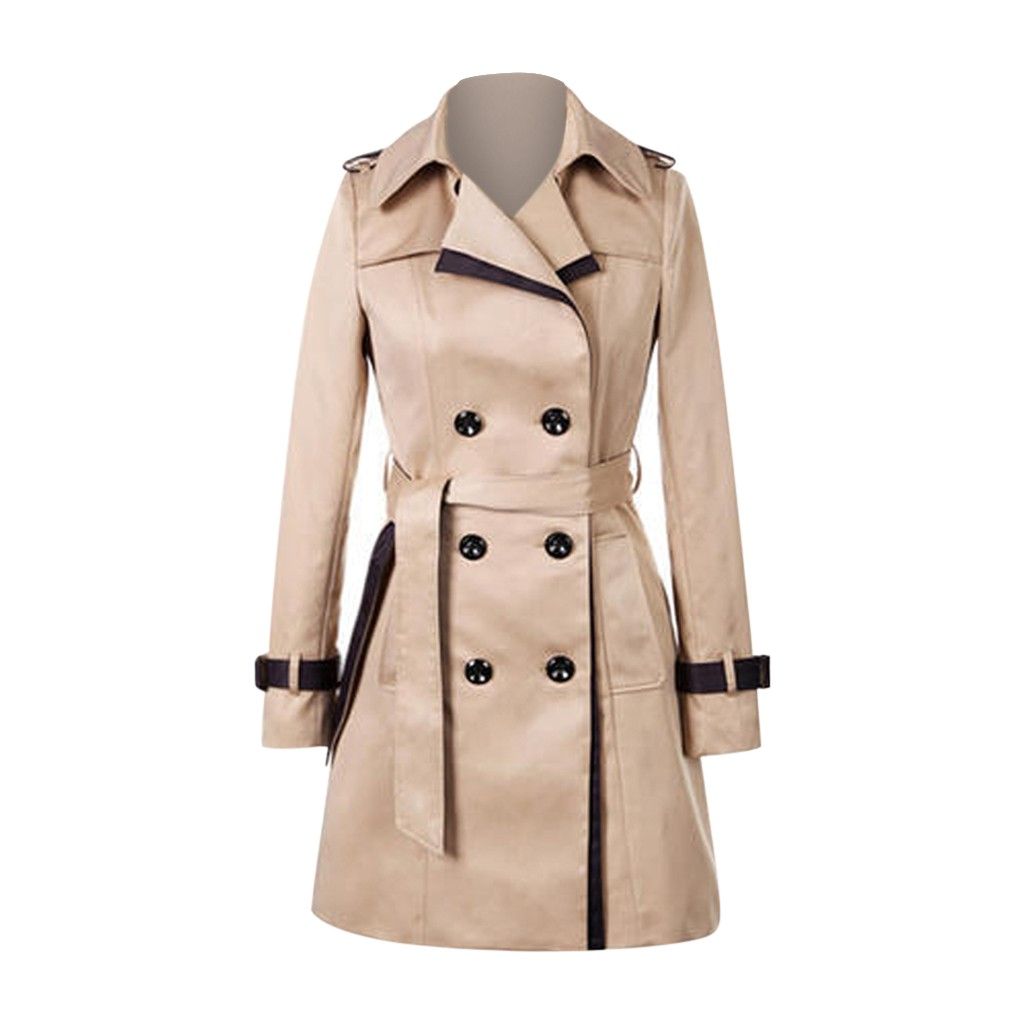 KANCOOLD Coats Fashion Women Winter Autume Buttons Long Windbreaker Back Bow Bandgae Brief New Coats And Jackets Women 2019Oct3