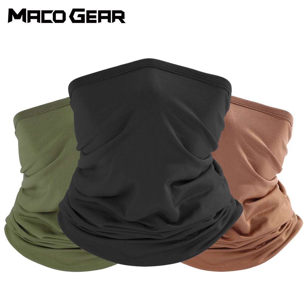 Outdoor Sport Bandana Military Tube Scarf Fishing Cycling Tactical Hiking Elastic Cover Neck Gaiter Bike Face Headband Scarf Men