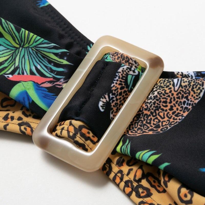 Brazilian bikini thong Leopard animal swimsuit female High cut bathing suit Tropical print swimwear women 2020 Summer biquini 4