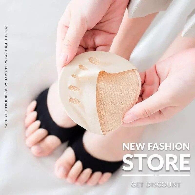 1 пара, прокладки для ухода за ногами, тонкие дышащие впитывающие пот нескользящие носки с корректирующим носком, женские невидимые накладк...
