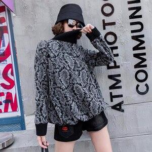 Image 4 - Max LuLu 2019, модная Корейская зимняя одежда, женские свободные топы, футболки, женские трикотажные футболки с принтом, повседневная водолазка, теплая одежда