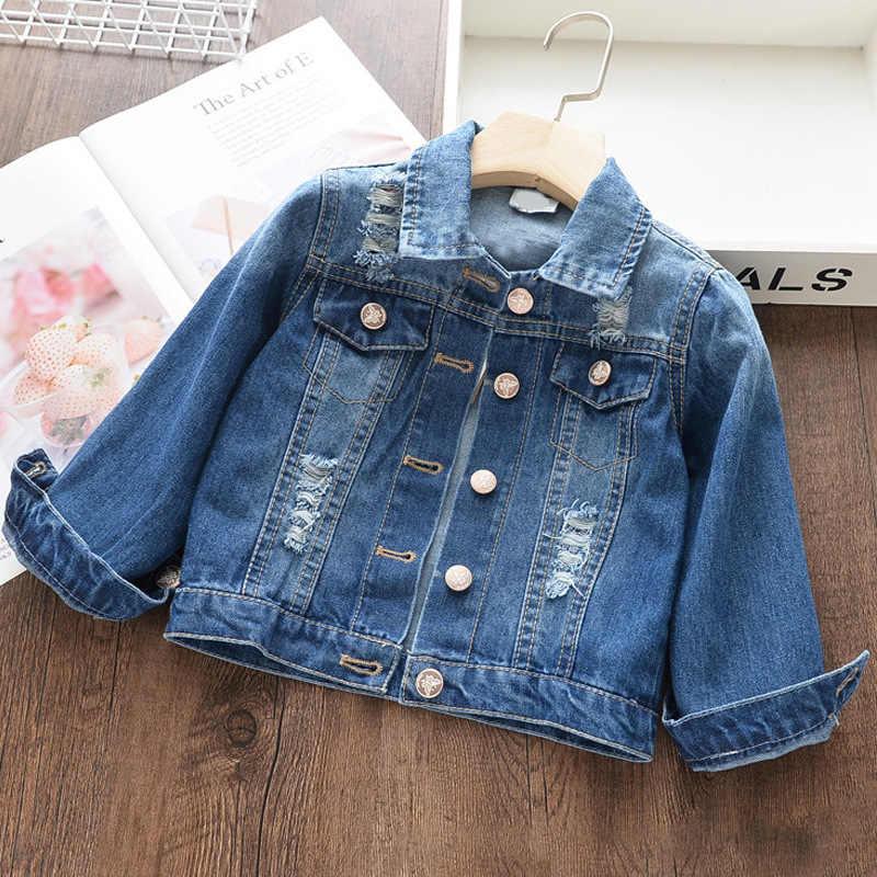 ใหม่แฟชั่น 2020 ฤดูใบไม้ร่วงแจ็คเก็ต DENIM สำหรับหญิงการ์ตูน Unicorn พิมพ์ Outerwear เสื้อเด็ก DENIM แจ็คเก็ตเด็กสาวเสื้อผ้า