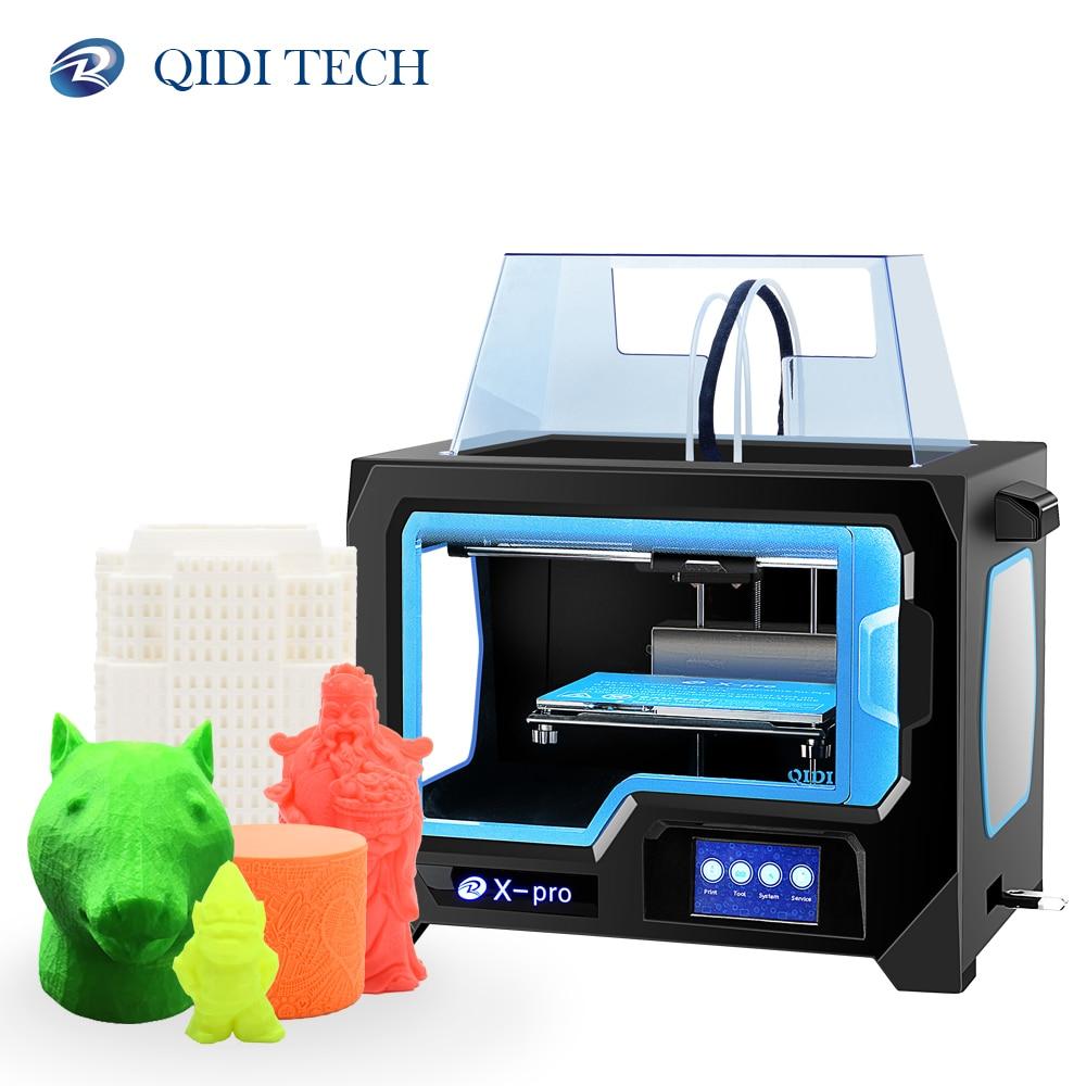 QIDI TECH X-pro 3D drukarki podwójna wytłaczarka wifi/połączenia lan ciszy funkcja 200*150*150mm ABS i PLA TPU