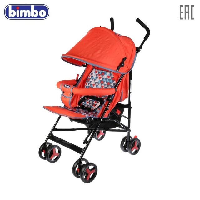 """Коляска-трость \""""BIMBO\"""" колеса 8*5,5\"""", глубокое канапе, чехол, 3 точечный ремень, цвет красный, доставка от 2-х дней"""