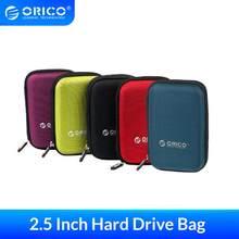 Orico 2.5 Inch Hdd Box Bag Case Draagbare Harde Schijf Zak Voor Externe Draagbare Hdd Hdd Box Case Opslag Bescherming zwart/Rood/Blauw