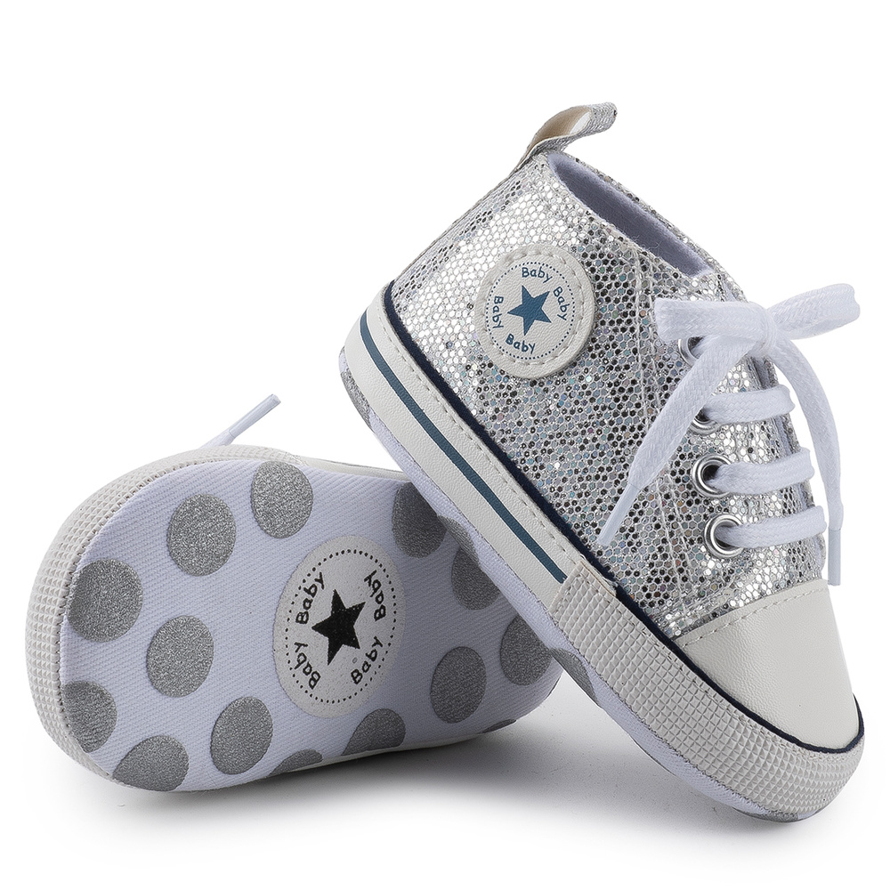 Детская обувь со звездами для мальчиков и девочек, твердые кроссовки из хлопка, мягкие носки с противоскользящим покрытием, с нескользящей подошвой для новорожденных и малышей, для тех, кто только начинает ходить, для детей ясельного возраста; Повседневная парусиновая обувь для младенцев 5