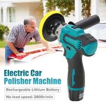 Polisher carro elétrico sem fio máquina 12v portátil carro polimento mais limpo ajustável 5 velocidade bateria de lítio recarregável