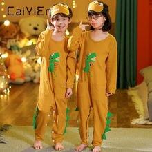 Caiyier мультяшный динозавр Детские пижамные комплекты хлопковые