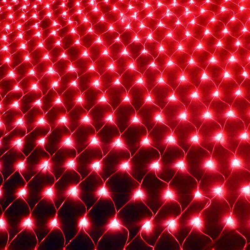 6x4m Led Net Lights 220V Wedding Decoration Christmas Fairy String Light Outdoor Holiday Festival Multi Outdoor Garden Lampxm