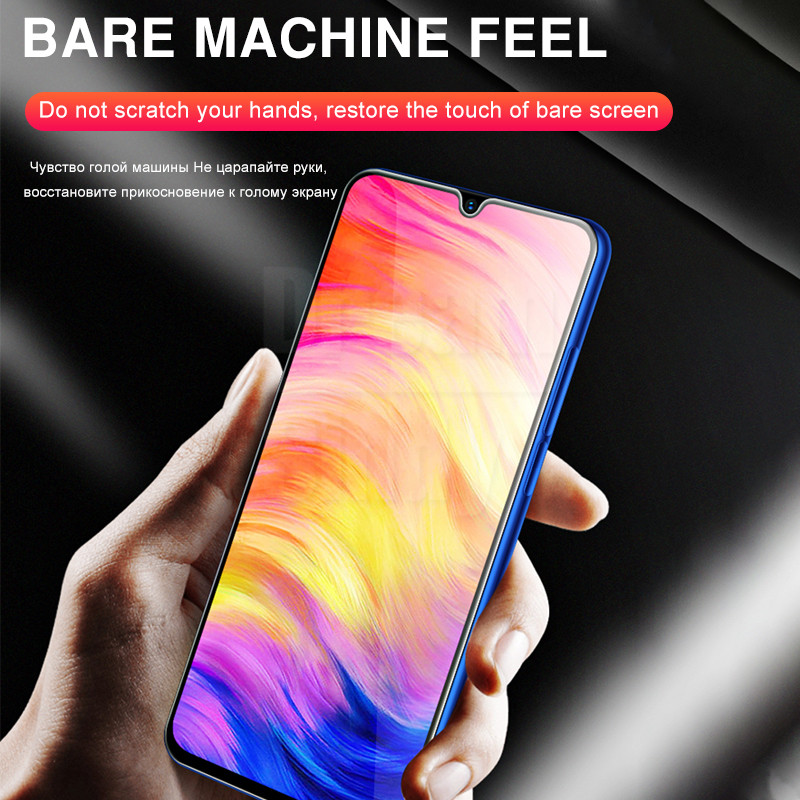 Image 4 - 2 in 1 Lens Tempered Glass On For Xiaomi Redmi Note 7 8 Pro 8T 8A 7A Protective Glass Camera Full Cover Screen ProtectorPhone Screen Protectors   -