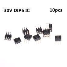 10 uds/lote 4N35 FSC optoacopladores Fototransistor 30V DIP6 conectores de circuitos integrados