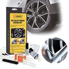 Aluminum Alloy Car Wheel Repair Kit Washable Auto Wheel Rim Repair Tool Set Dent Scratch Restore Alloy Wheel Rims