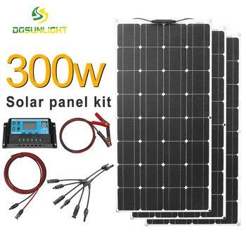 Kit completo de panel solar de 300w para el hogar, cargador de...