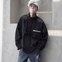 Jacket male 2019 autumn fashion brand ins baseball uniform large size student Korean version loose windbreaker Black Gray