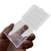 Caixa de armazenamento da bateria do aa/aaa caixa de armazenamento do recipiente das baterias plásticas impermeáveis