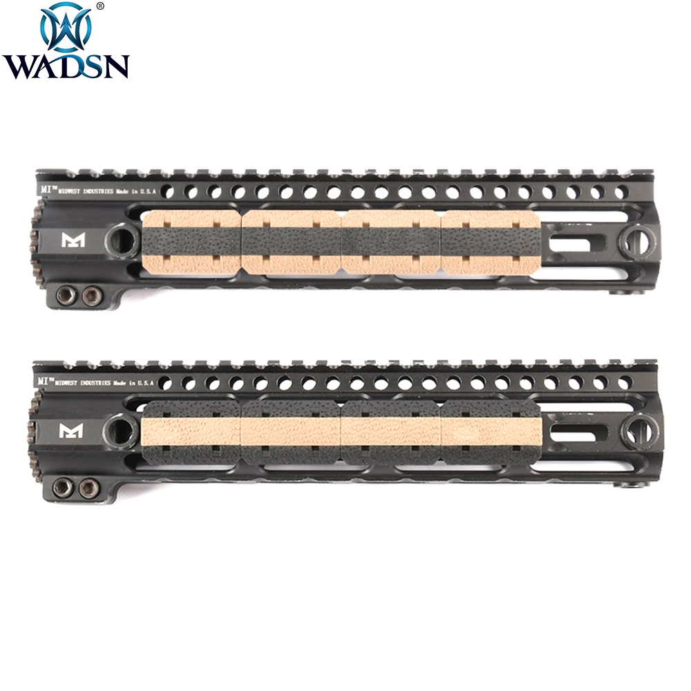 WADSN Airsoft M LOK Type 2 Rail Cover M lok Hunting Handguard Weaver 20mm Picatinny Rail Cover Panel 12pcs/1Pack|Scope Mounts & Accessories| |  - title=