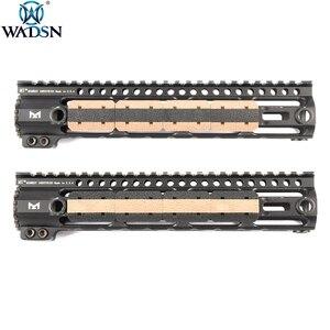 WADSN Airsoft M-LOK Type 2 Rail Cover M lok Hunting Handguard Weaver 20mm Picatinny Rail Cover Panel 12pcs/1Pack(China)