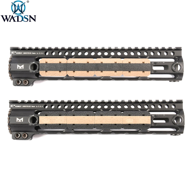 WADSN Airsoft M-LOK Type 2 Rail Cover M lok Hunting Handguard Weaver 20mm Picatinny Rail Cover Panel 12pcs/1Pack